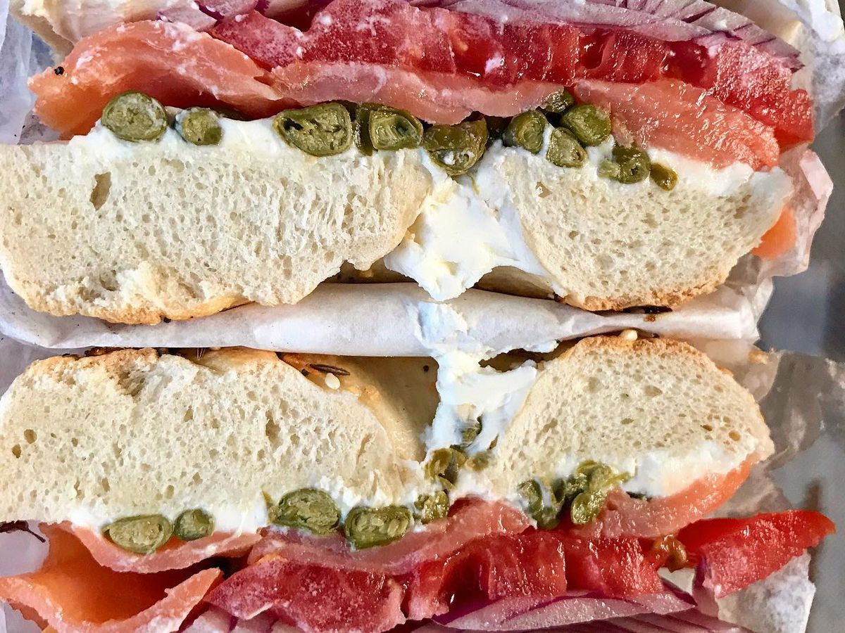 A lox sandwich.