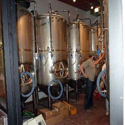 Fermentation tanks hard at work to make your brew