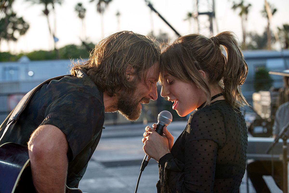 Bradley Cooper and Lady Gaga in A Star Is Born. Warner Bros.