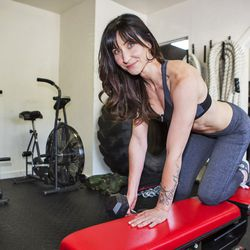 """<a href=""""http://la.racked.com/archives/2013/08/08/hottest_trainer_contestant_8_maria_ramsdell.php""""target=""""_blank"""">Maria Ramsdell of Chain Fitness</a>"""