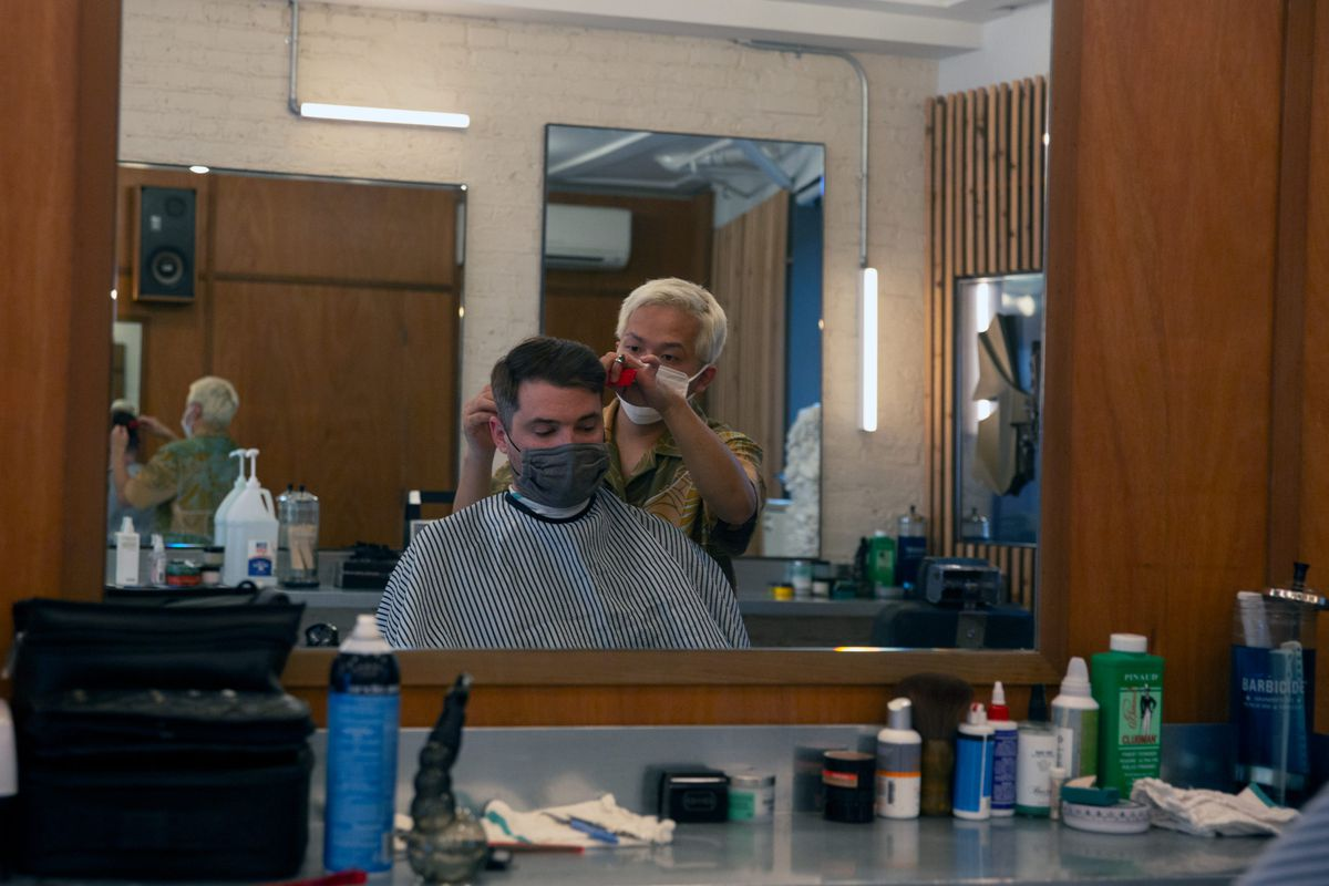 Persons of Interest reopened their Fort Greene barbershop on Monday.