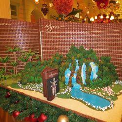 The front of a gingerbread replica of Wynn Las Vegas and Encore Las Vegas. Photo: Susan Stapleton