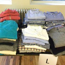 Knits ($19) and shirts ($29)