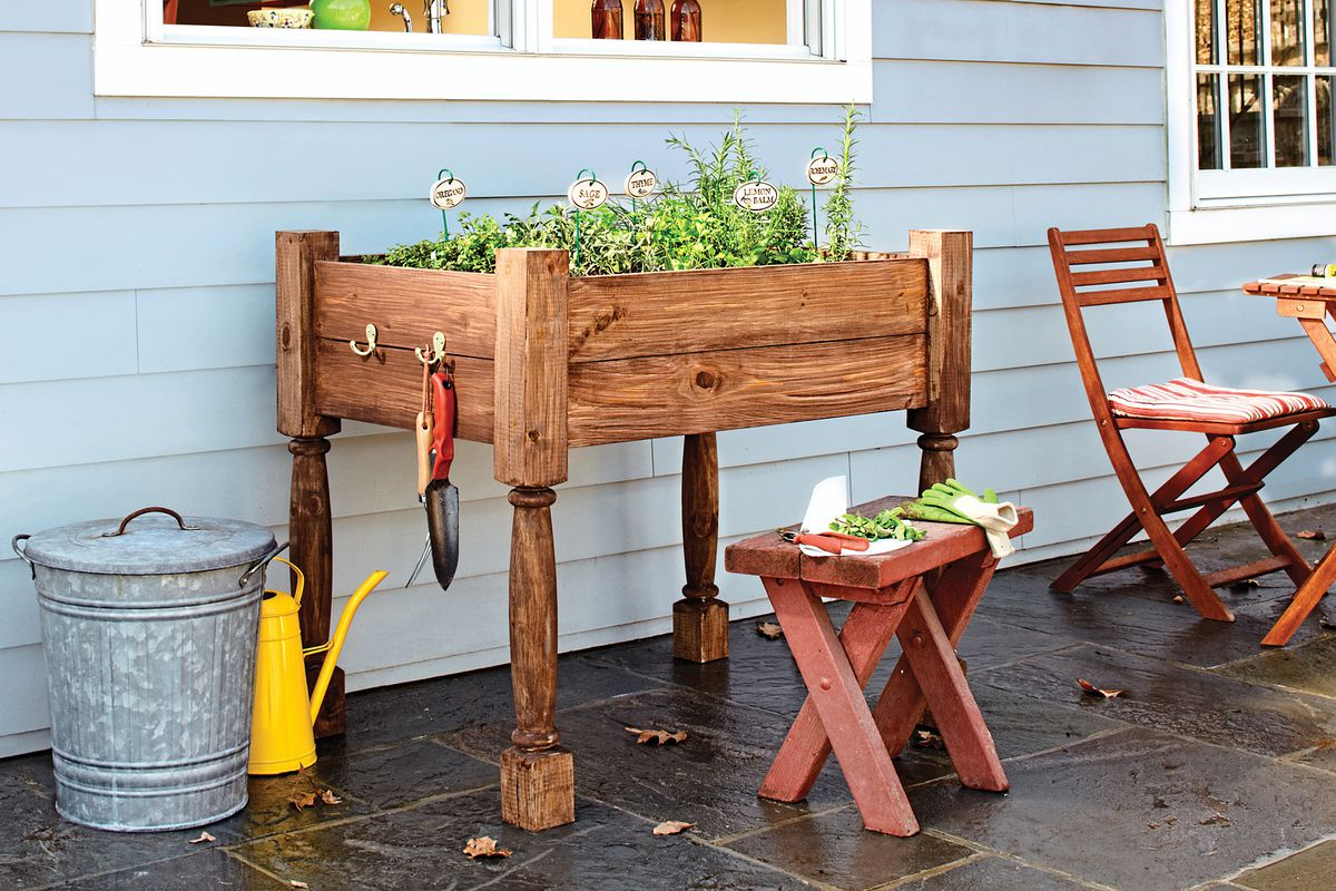 How To Build A Raised Herb Garden Planter This Old House