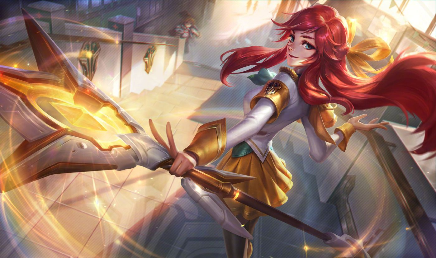 League Battle Academia Skins Ezreal Katarina Yuumi Lux And