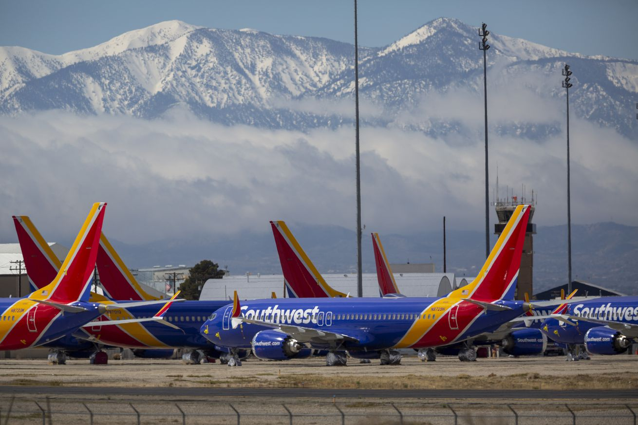 Airlines Park Planes In Southern California Due To Coronavirus Slowdown