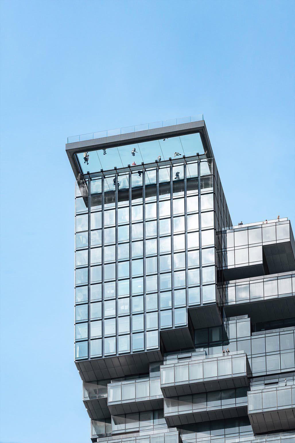 Glass observation deck