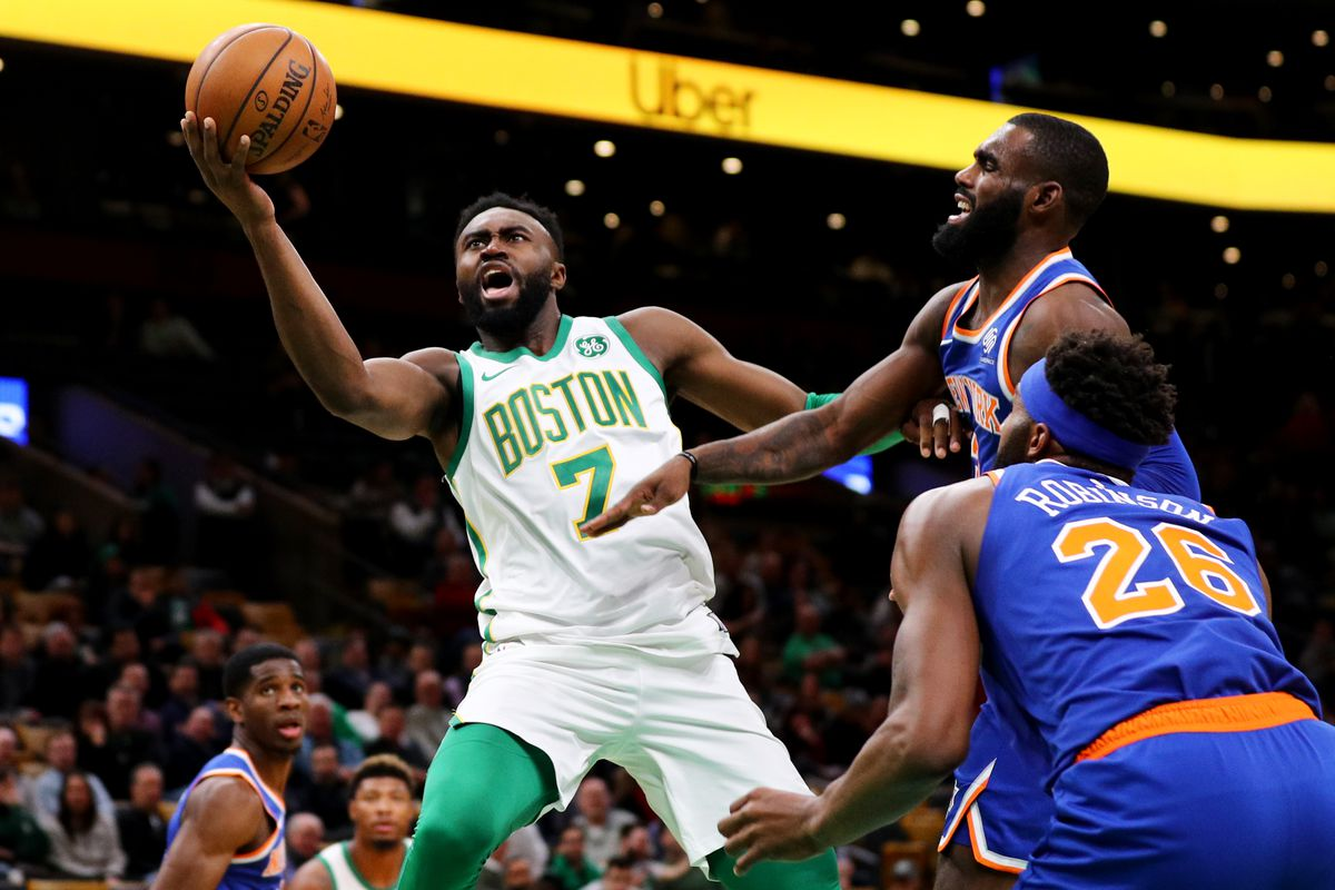 d351c238d9c4 Jaylen Brown and Al Horford key blowout win. 10 Takeaways from Celtics  Knicks. New ...