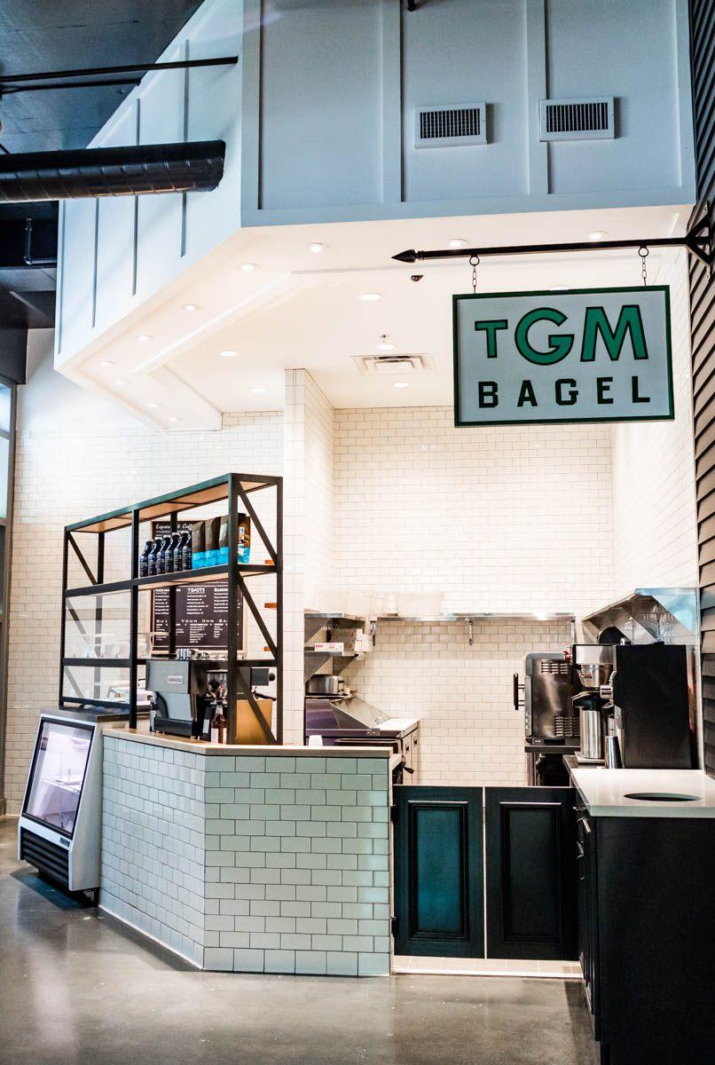 The TGM Bagel stall.