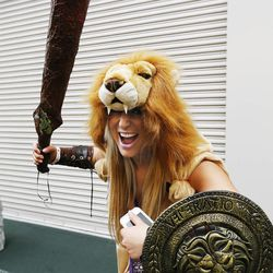 Catrina Melton attends Comic Con during the convention at the Salt Palace in Salt Lake City Friday, Sept. 5, 2014.