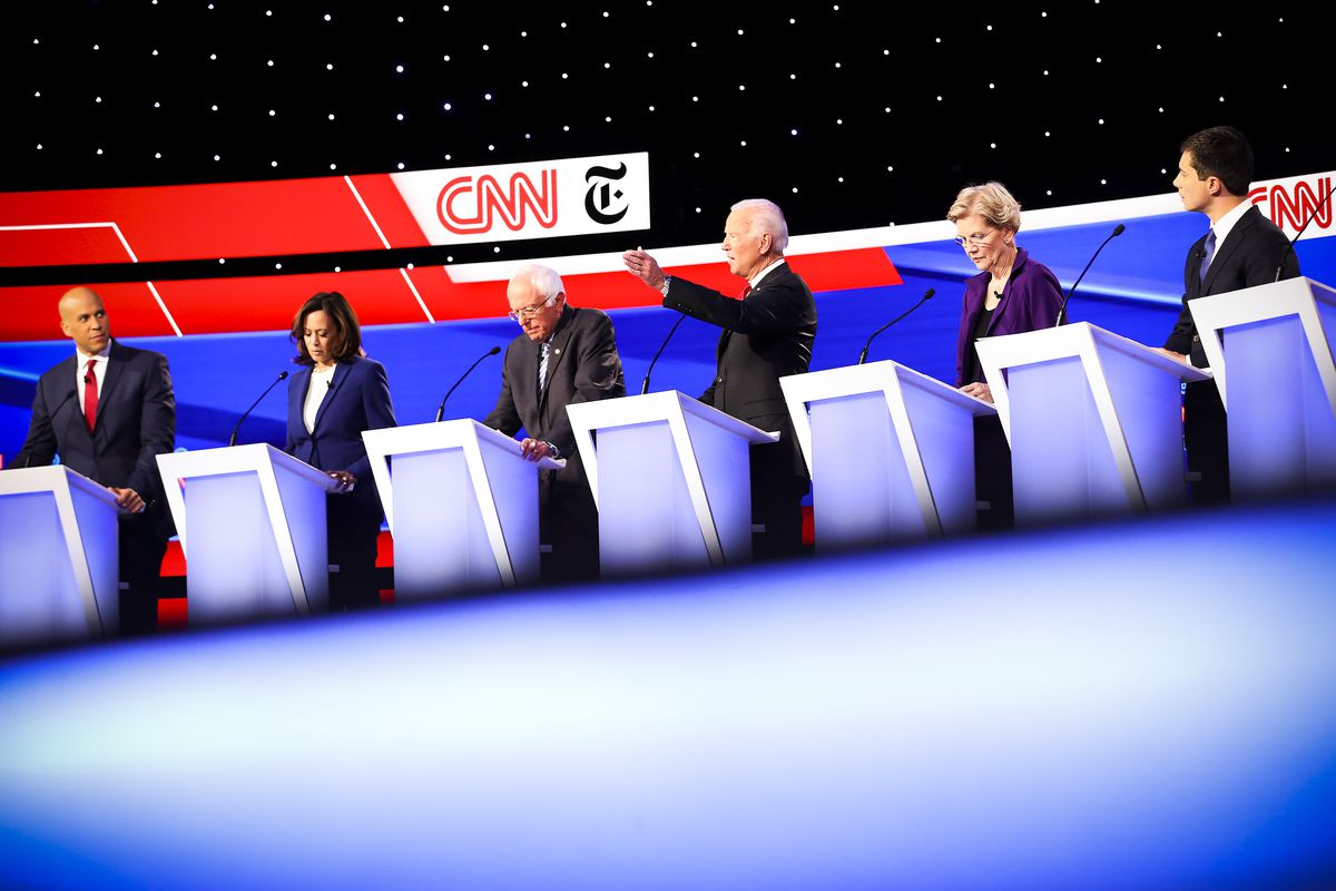 A record twelve presidential hopefuls are participating in the debate.