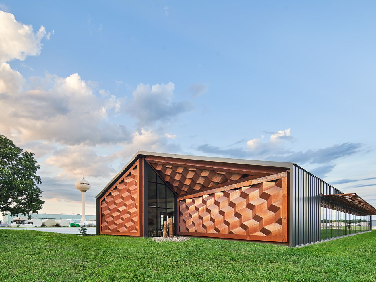 A rural fitness center is pure design muscle