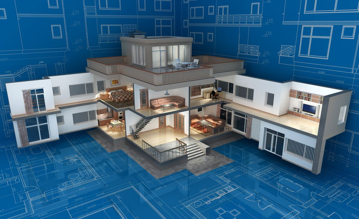 House blueprint 3D