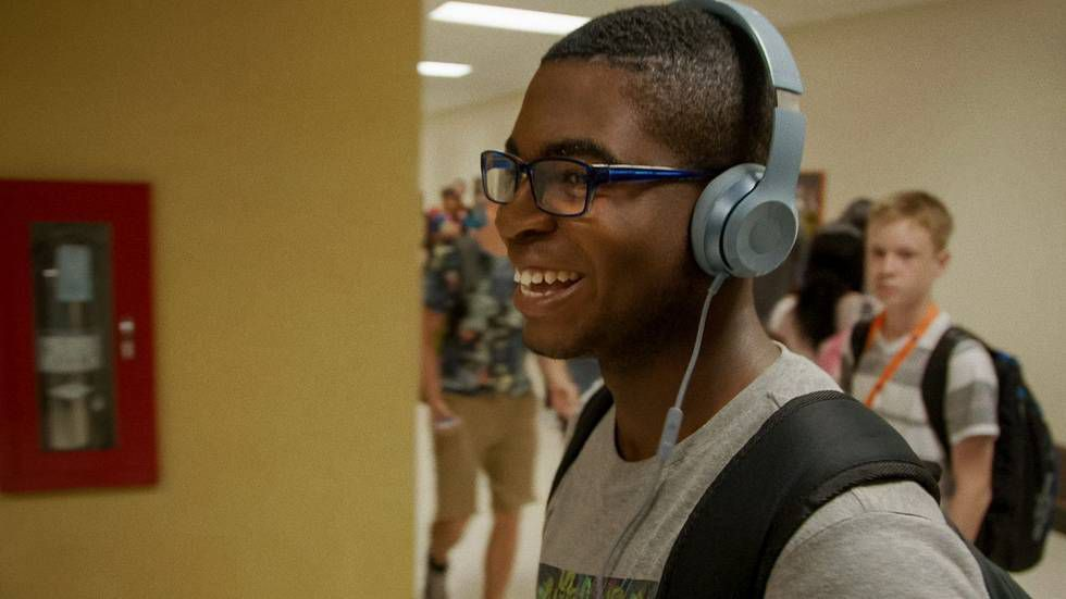 """Charles Donalson, then a student at Oak Park River Forest High School, is seen on the documentary series """"America to Me."""" 