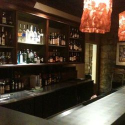 The bar's zinc counter top was made in Sebastopol.
