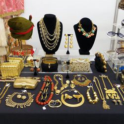 """Gorgeous gold accoutrements and more from <a href=""""http://www.mariemonsod.com/"""">Marie Monsod</a>."""