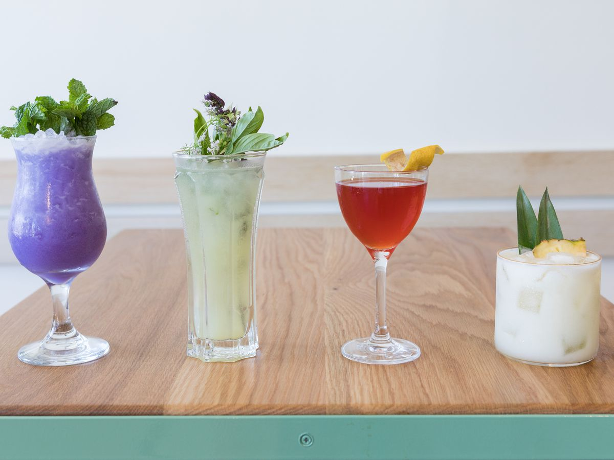 Colorful tropical cocktails from Jo's Modern Thai