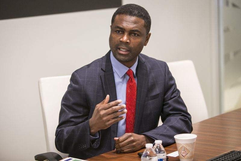 State Rep. La Shawn Ford meets with the Sun-Times Editorial Board in 2018.