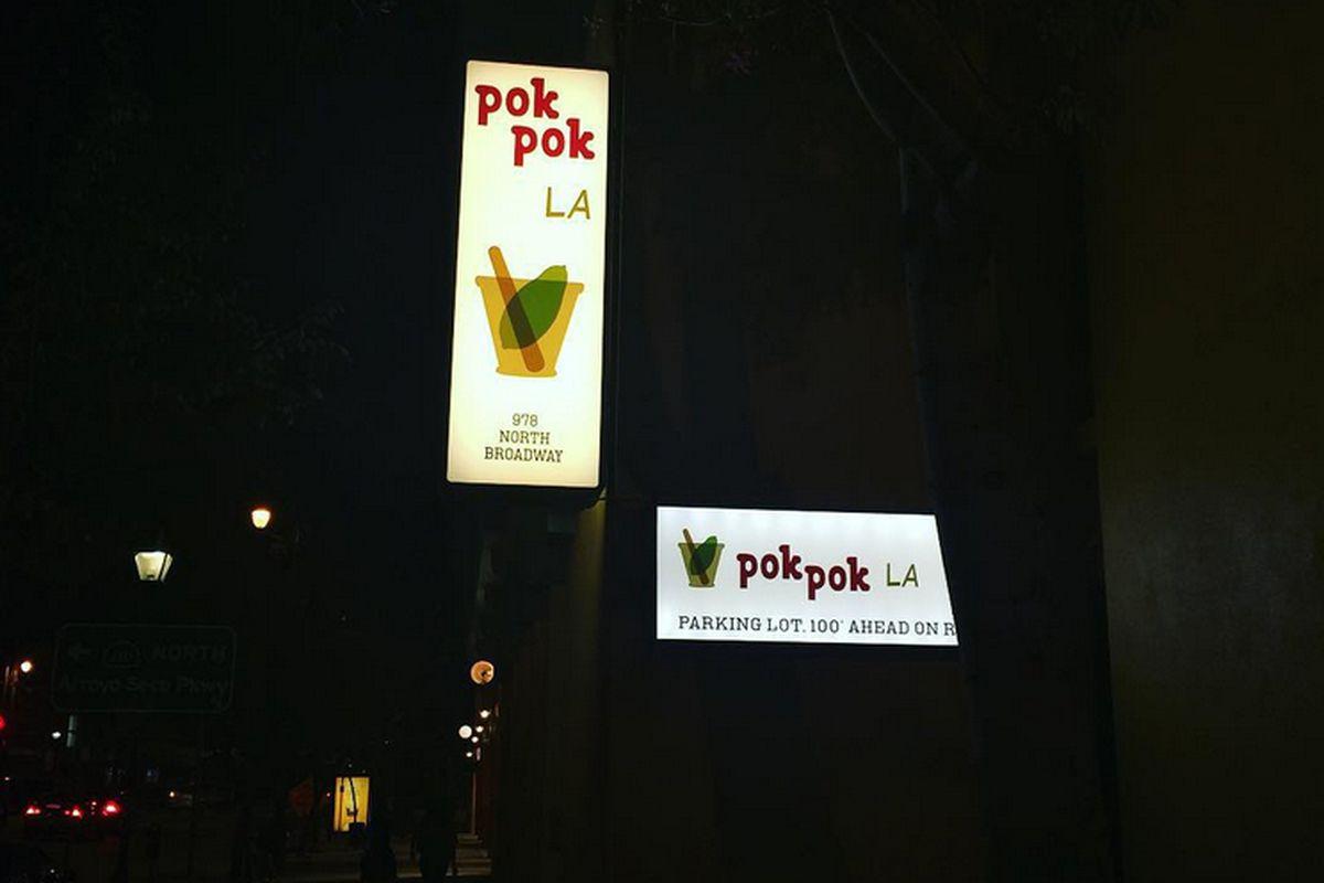 Pok Pok LA Signage, Chinatown