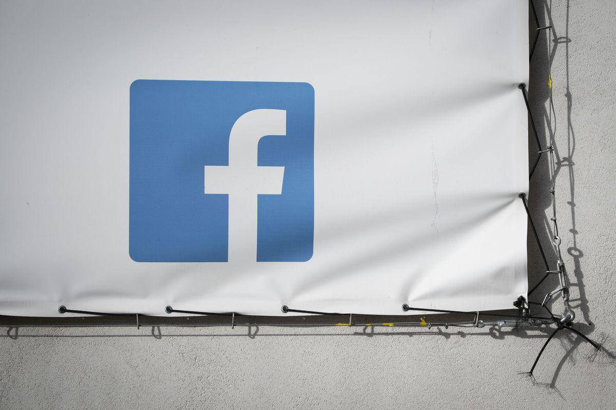 A Facebook logo on a billboard