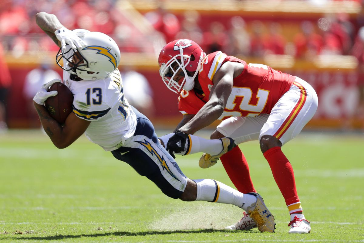 "Keenan Allen Chiefs CB Marcus Peters is ""happy I m not playing"