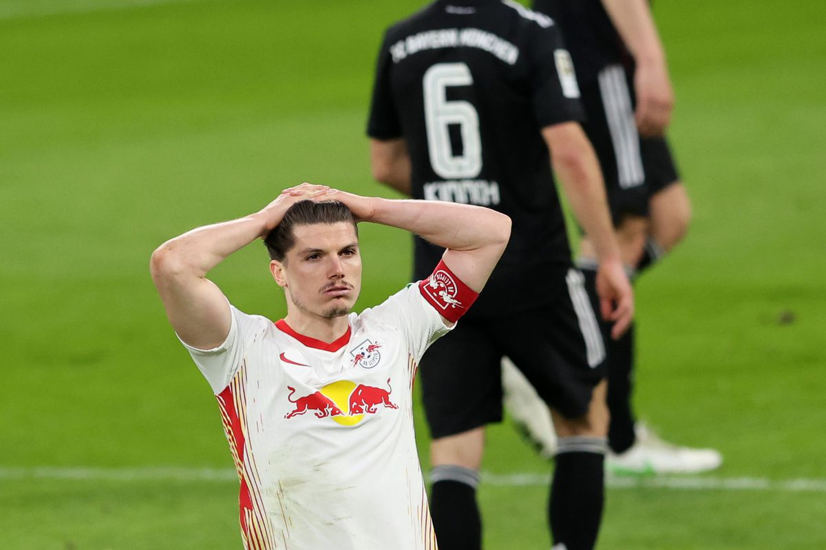 RB Leipzig's Marcel Sabitzer has to let the loss to Bayern Munich ...