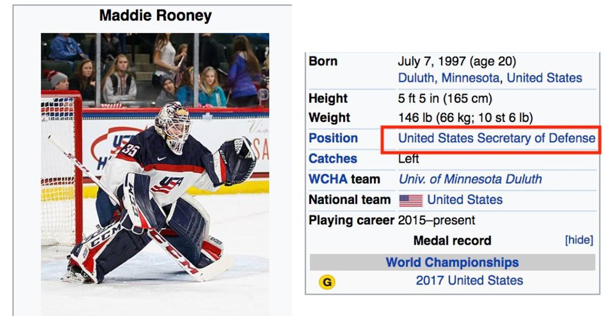a2b96e58b30 2018 Winter Olympics  Wikipedia gives Maddie Rooney a new job title -  SBNation.com