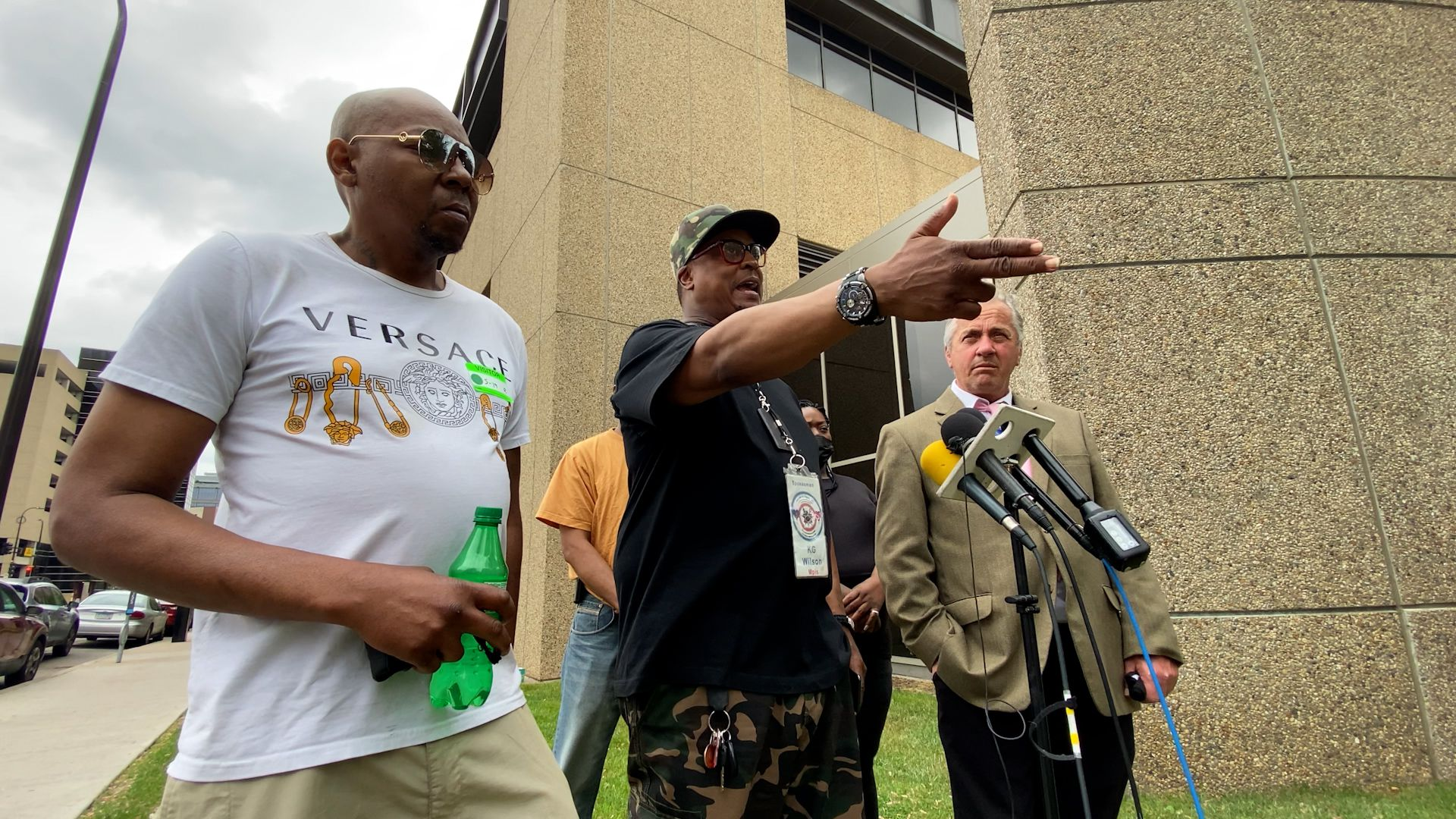 Minneapolis activist K.G. Wilson and Antri Sease, Sr., the two grandfathers to Aniya Allen, shared their grief over the loss of the six-year-old whose killer has yet to turn him/herself in.