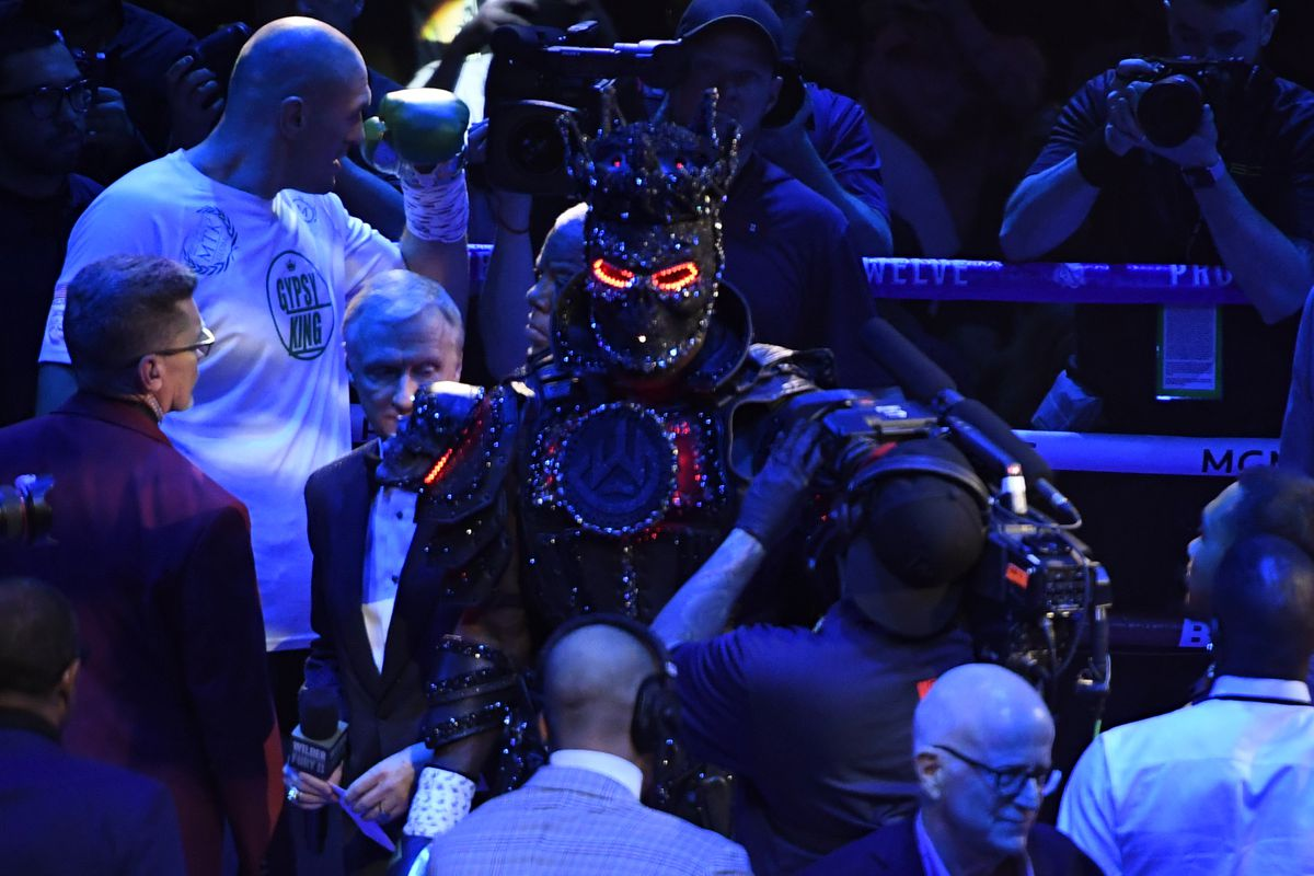 Deontay Wilder makes his grand entrance at the MGM Grand Hotel February 22, 2020 in Las Vegas, Nevada. Tyson Fury took the win over Deontay Wilder by TKO as the fight was stop in the 7th round for the world heavyweight championship in Las Vegas, Nevada.