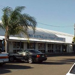 Australian Freight Services has its office in Hangar No. 7, which is now a Heritage Listed building, in Brisbane, Australia, photo taken July 20, 1999.