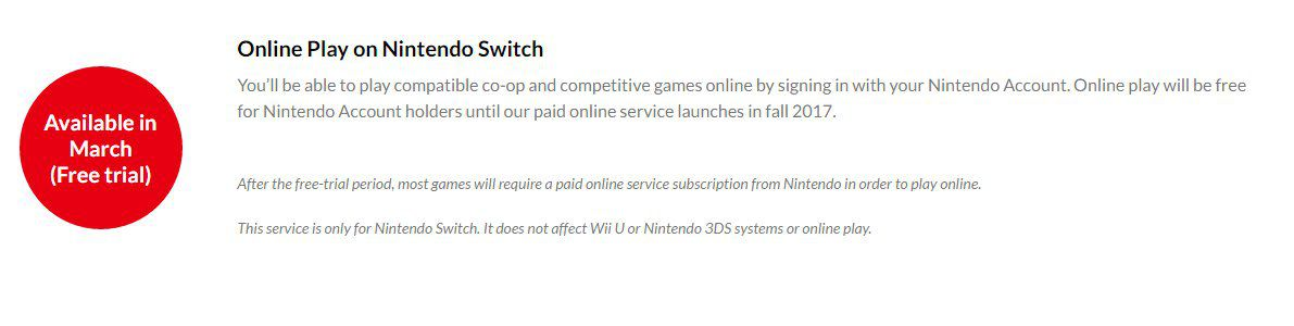 nintendo switch will have a paid online service starting this fall