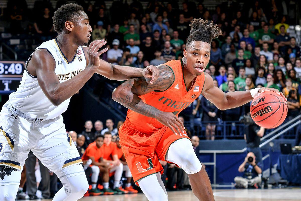 NCAA Basketball: Miami at Notre Dame