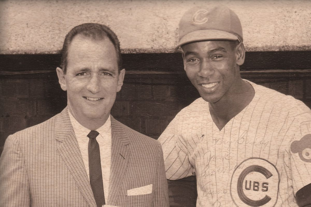 Jack Quinlan and Ernie Banks, around 1960