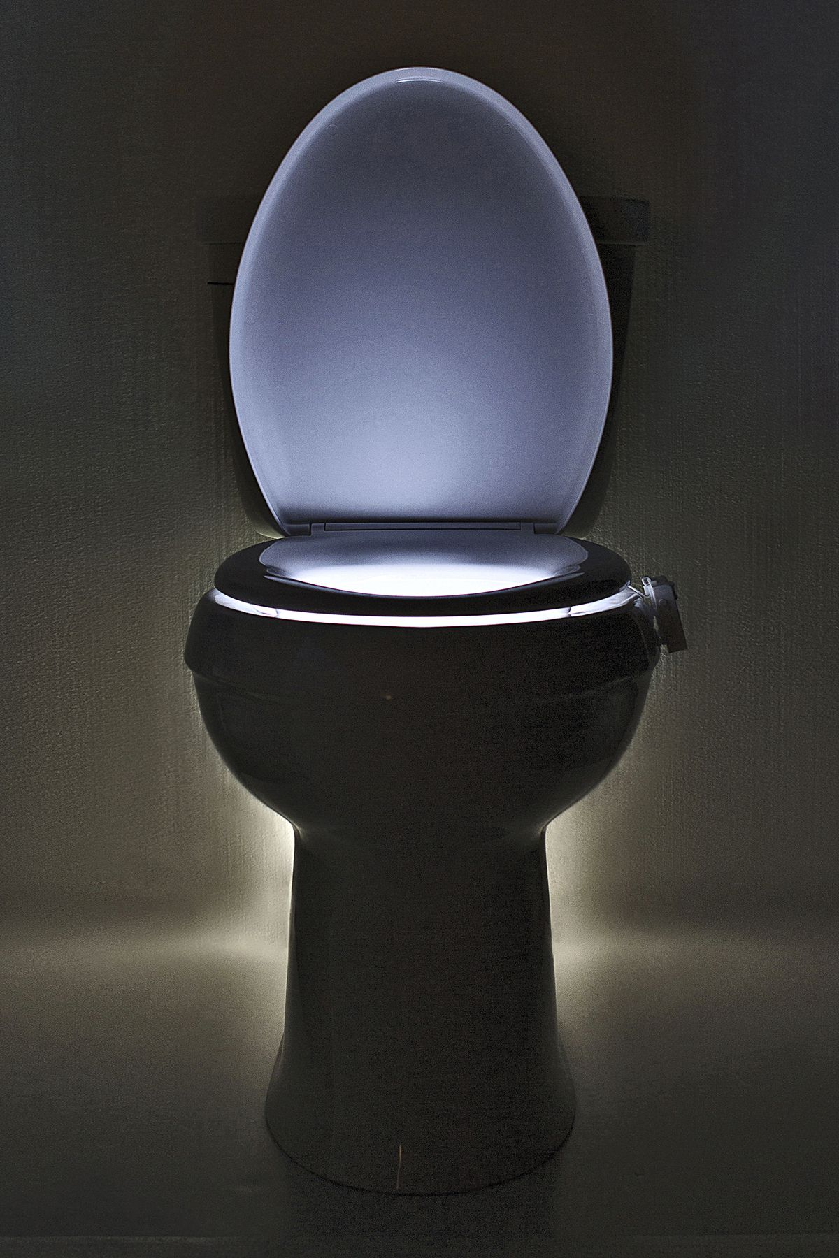 Lighted toilet seat.