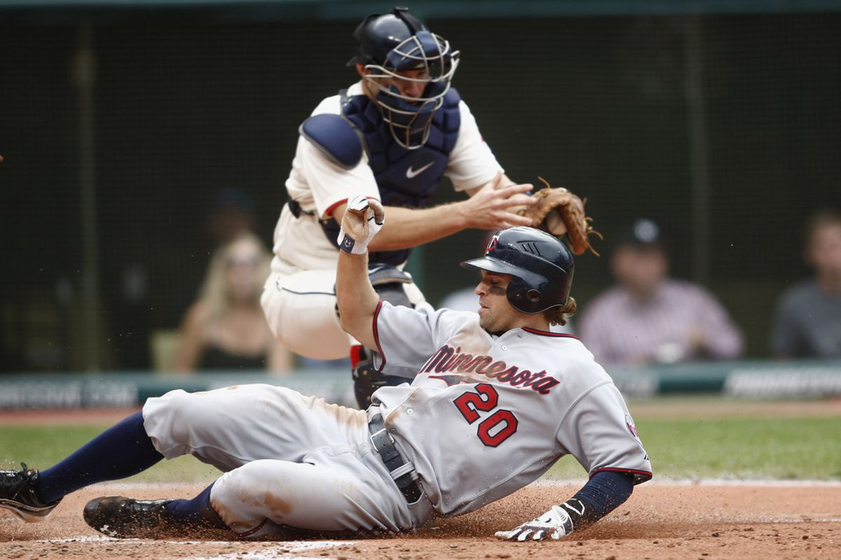 Dozier was safe on this slide, but at another point in the game his decision to run may have been a bit more controversial.