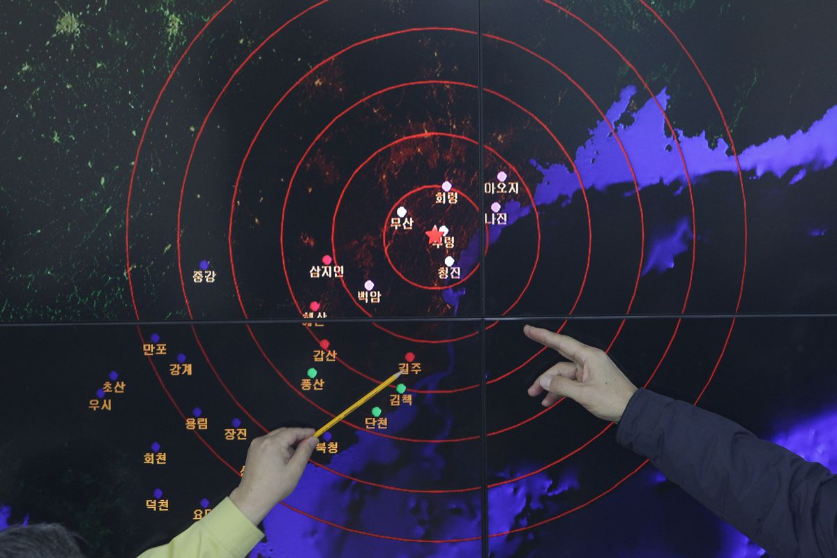 """An """"artificial earthquake"""" appeared near the Punggye-ri site in January 2015. North Korea vowed to destroy that complex between May 23 and 25."""