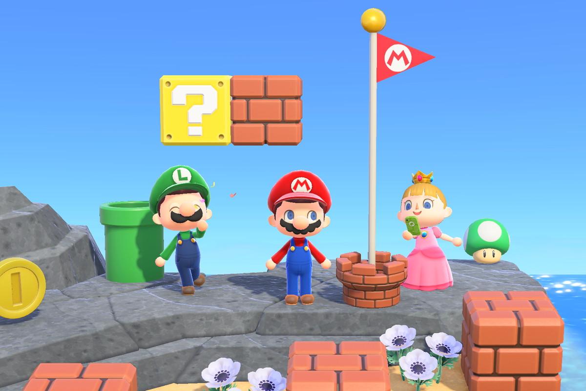 The Mario update for Animal Crossing New Horizons.