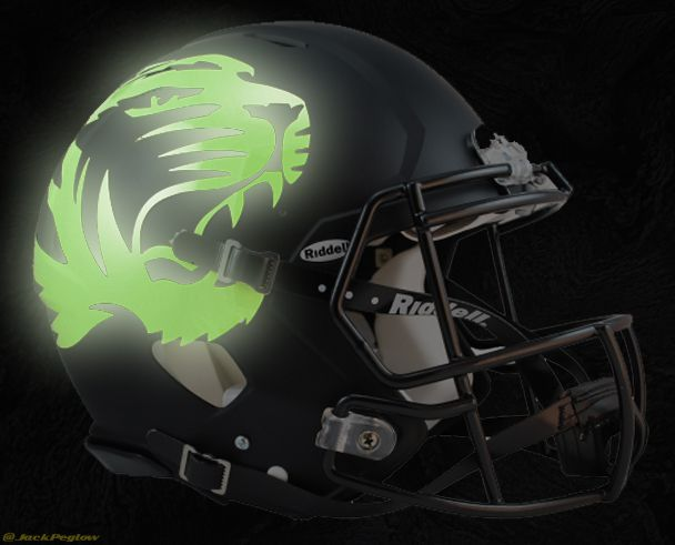 Glow in the dark helmet