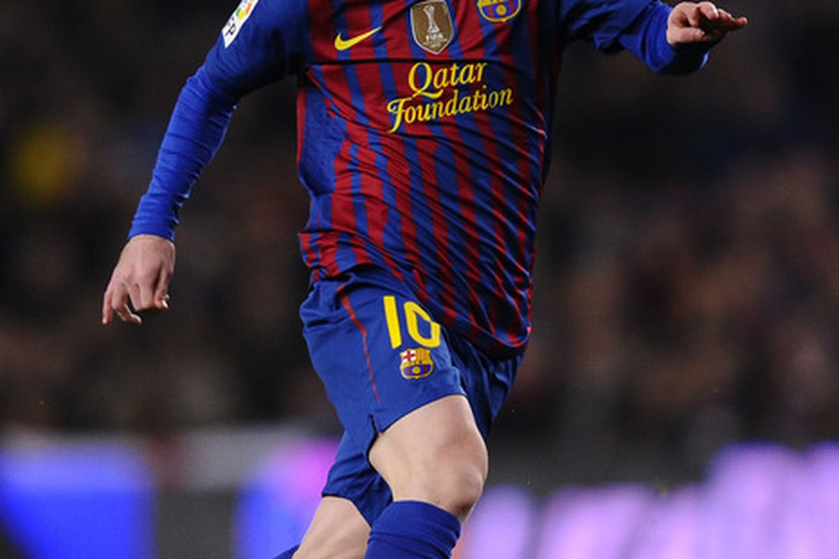 Messi could've been celebrating a goal seven times more had it not been for the frame of the goal.