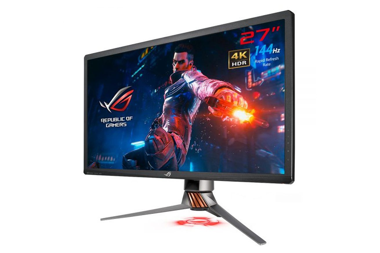 asus 4k hdr 144hz g sync monitor is shipping next month for 2 000