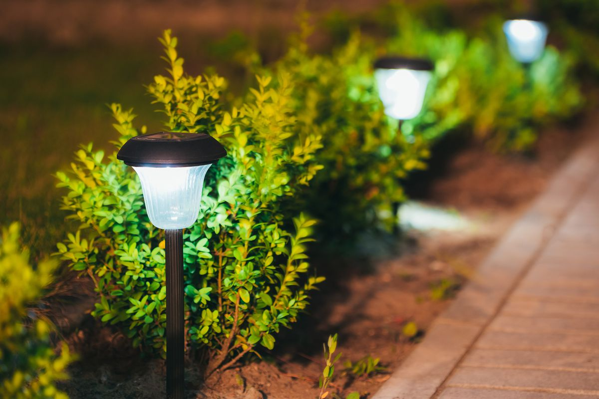 Decorative Small Solar Garden Light.