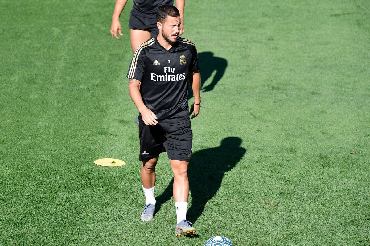 Hazard trains with the squad in first half of Real Madrid's