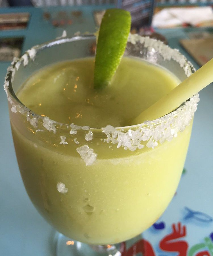 The avocado margarita at Curra's