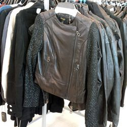 Leather jackets by Laundry by Shelli Segal for $199.99 (orig. $300), Chaser for $299.99 (orig. $600) and more.
