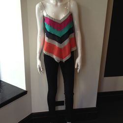 Wendy Katlen silk top $60 retail $135 D brand jeans 109 retail 260