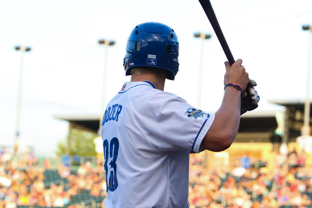 Hunter Dozier goes into the All-Star break on quite a hot streak.