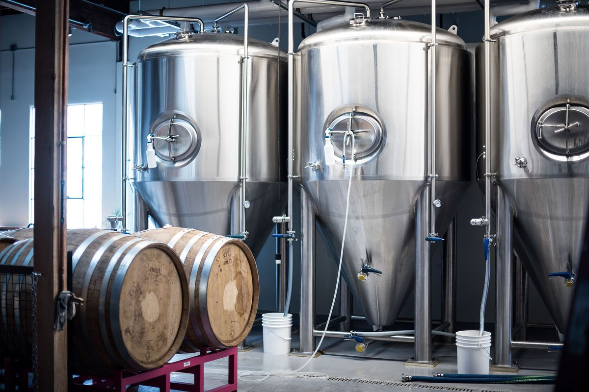 Highland Park Brewery's tanks ready to brew beer.