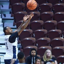 Ryan Boatright puts up a three from the corner.