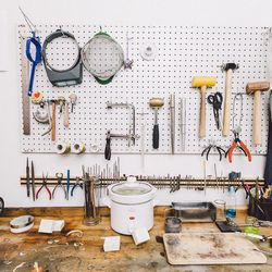 The Winden tool wall.