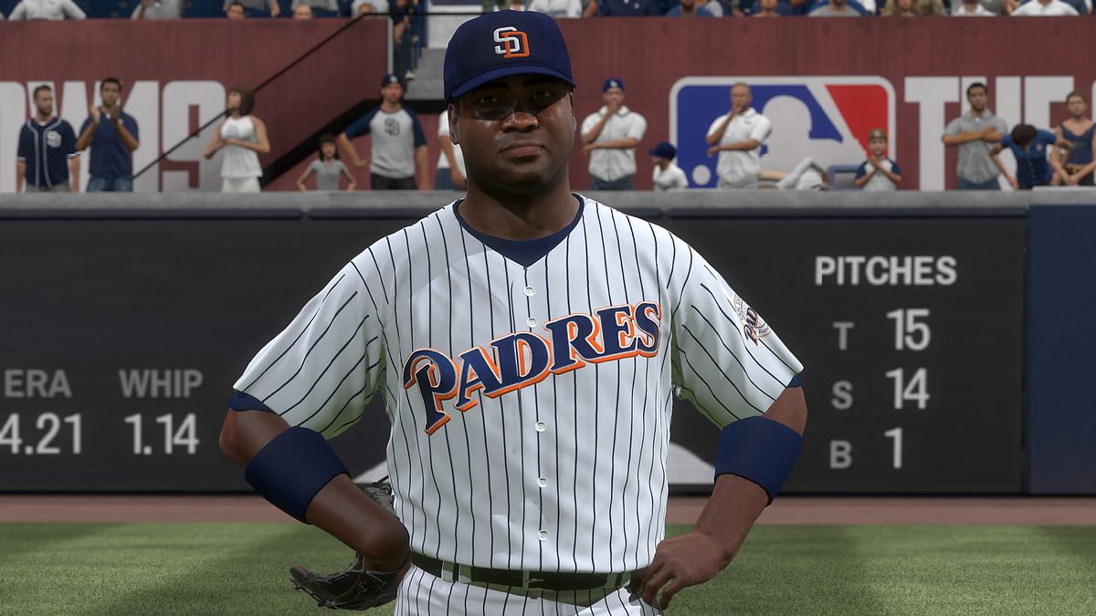 MLB The Show 19 - Tony Gwynn in right field in Moments mode
